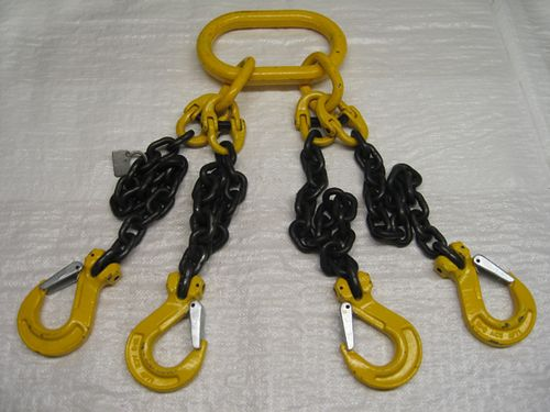 Chain Lifting Slings ( Custom / Clevis Hook / Grade 80 / Overhead / Alloy / Strong / Durable )